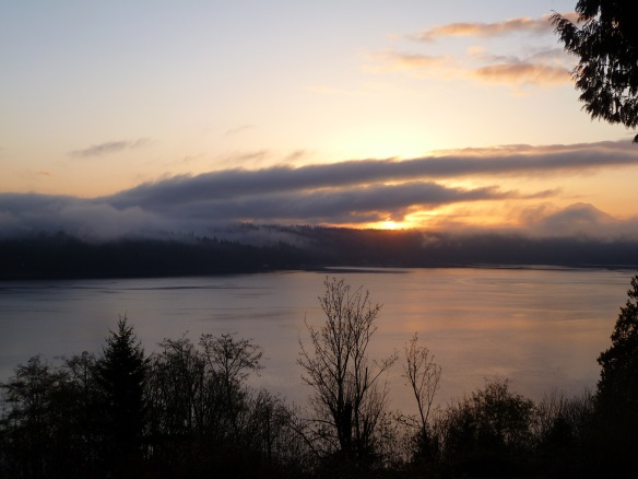 Sunrise over Vashon Island, WA